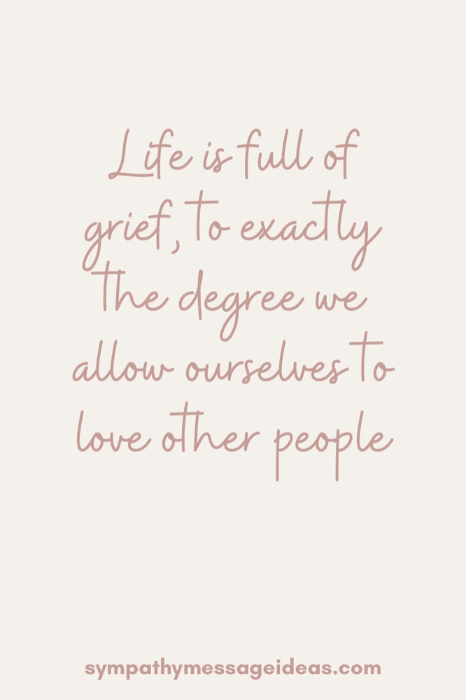 life is full of grief quote