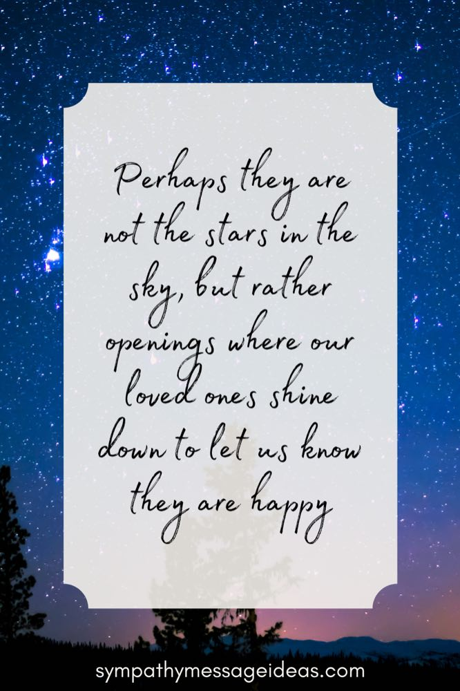stars in the sky quote about grief