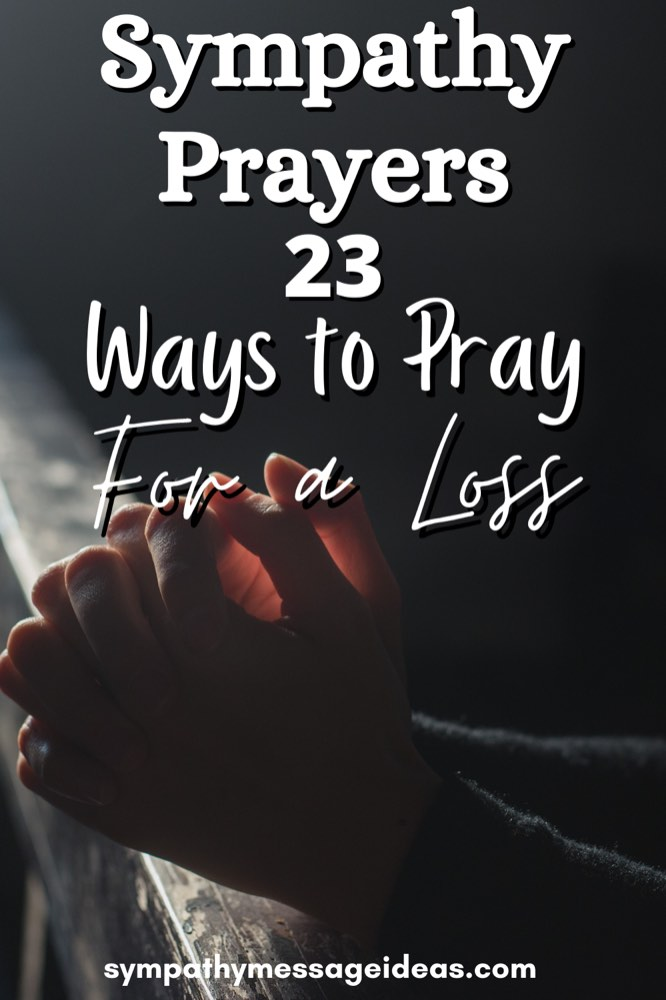 Sympathy prayers Pinterest small