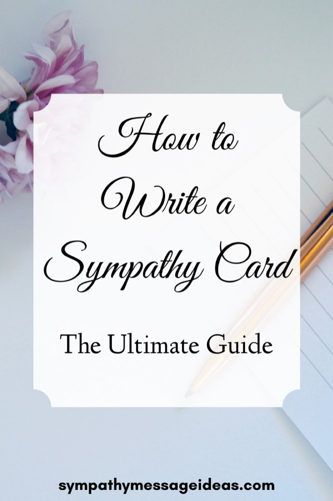 What to write in a sympathy card Pinterest small