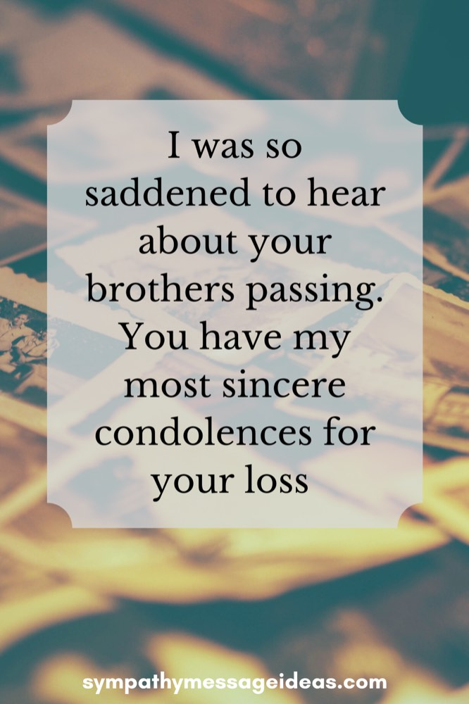 words of sympathy for loss of brother