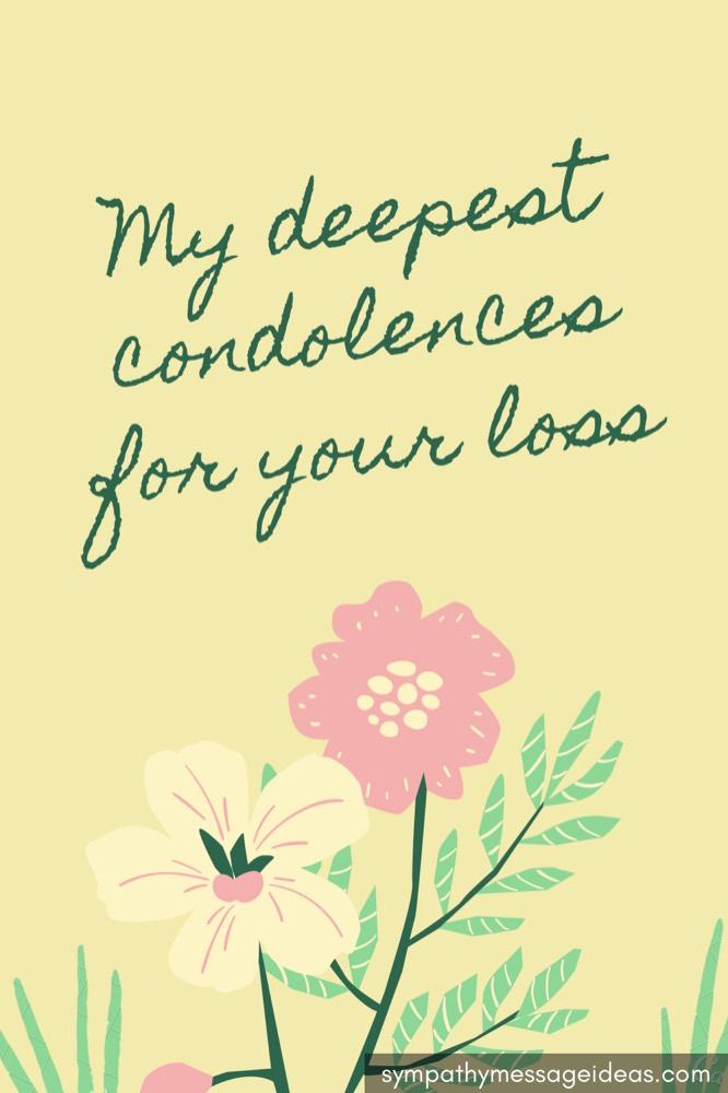 belated condolence message