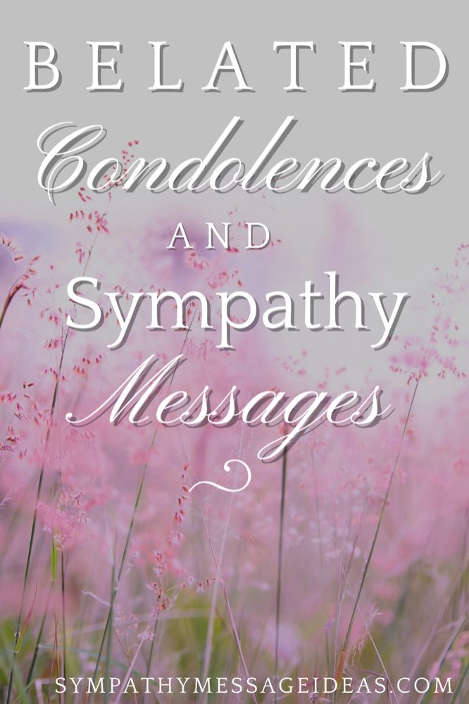 belated condolence messages Pinterest small