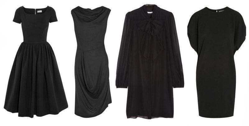 Black funeral dress inspiration