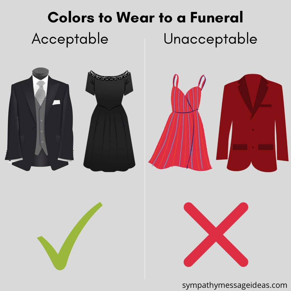 colors to wear to a funeral comparison