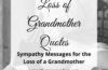 loss of grandmother quotes sympathy messages
