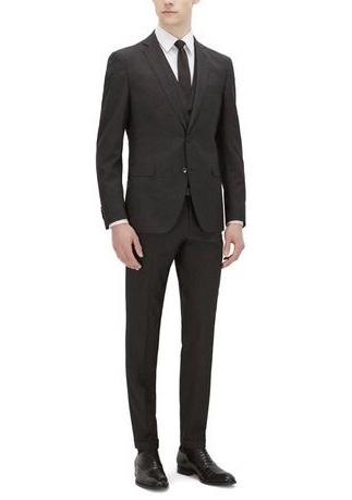men's funeral suit example