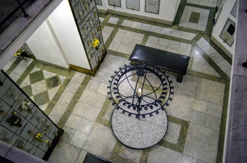 top down view of a columbarium