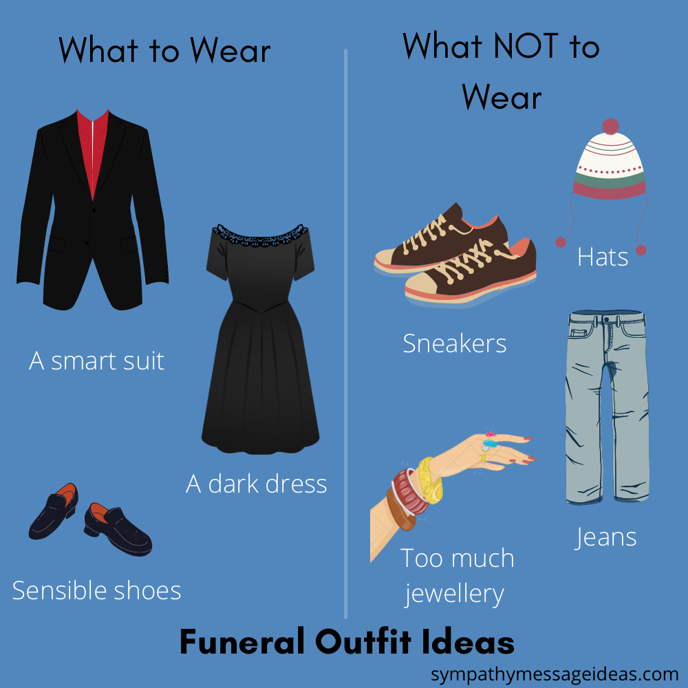 What to wear and what not to wear to a funeral comparison