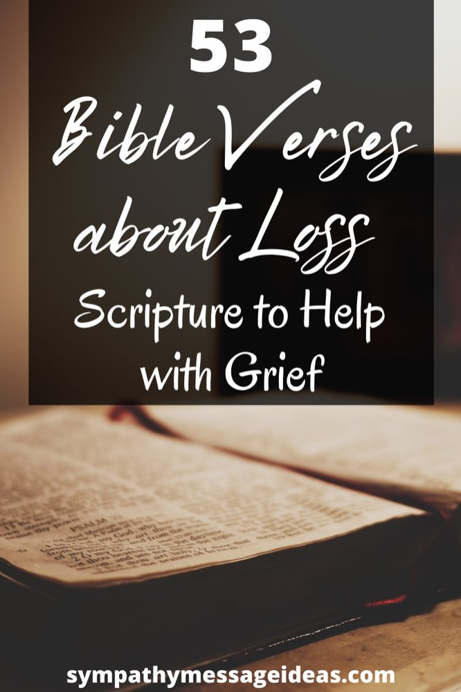 Bible verses about loss Pinterest