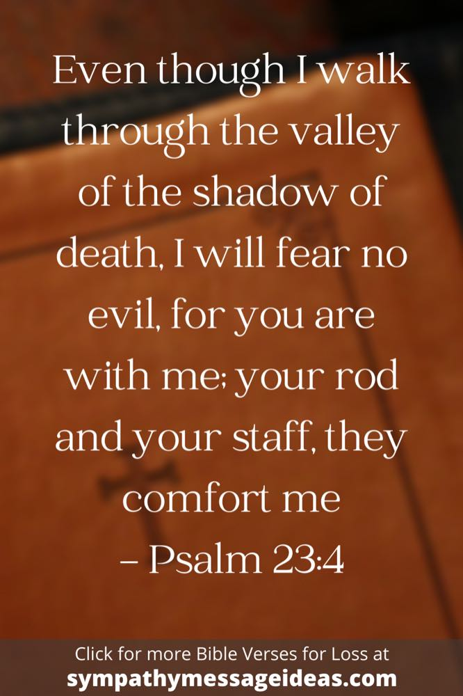 Comforting Bible verse about loss