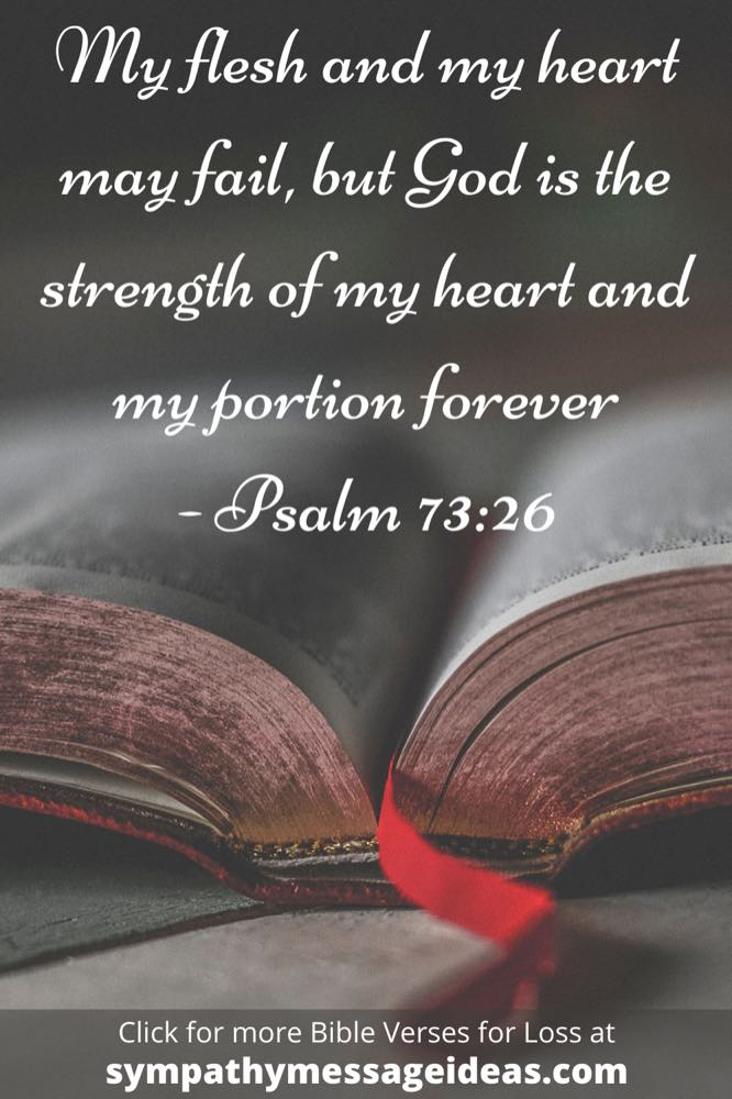 God is strength Bible verse about loss