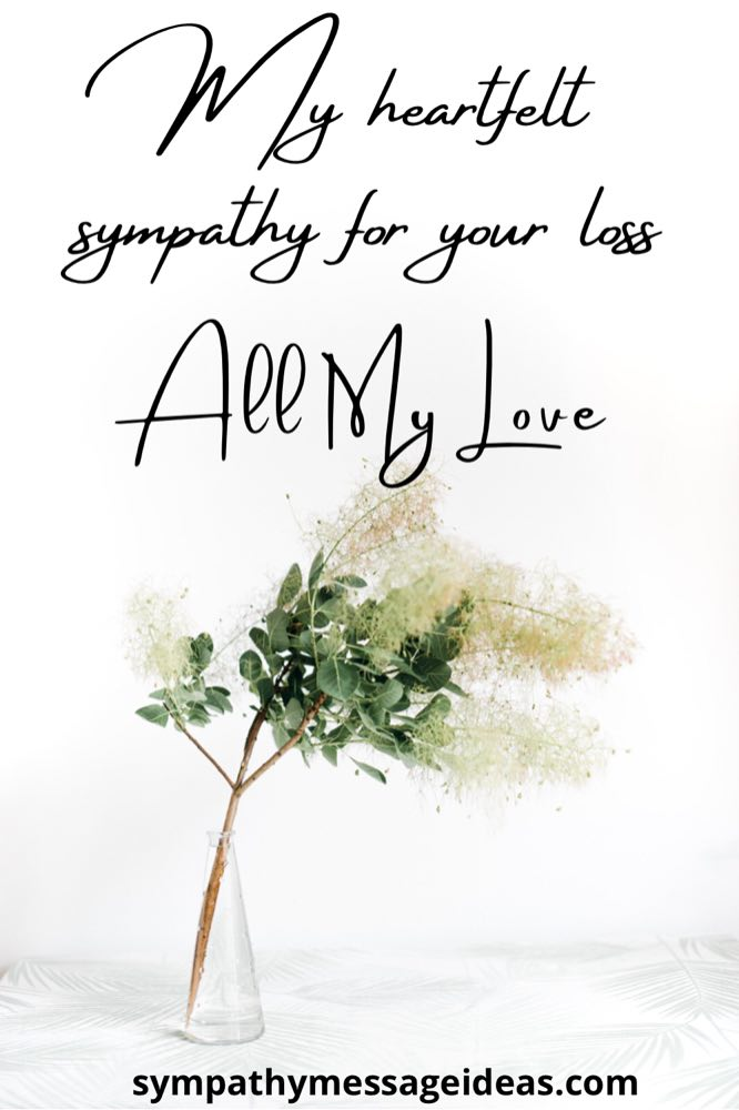 my heartfelt sympathy for your loss message