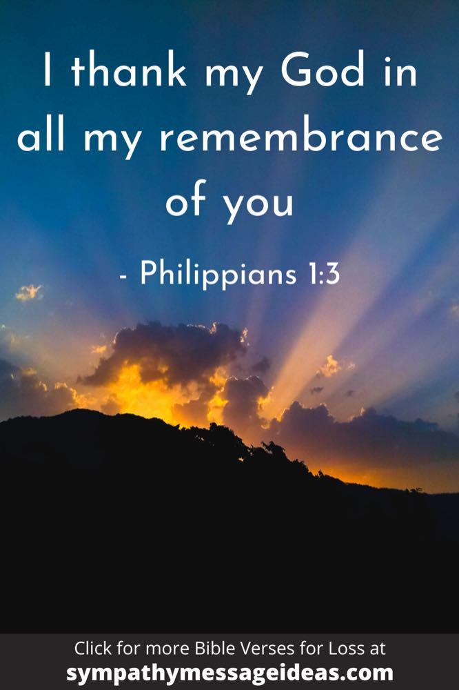 Philippians Bible verse about remembrance