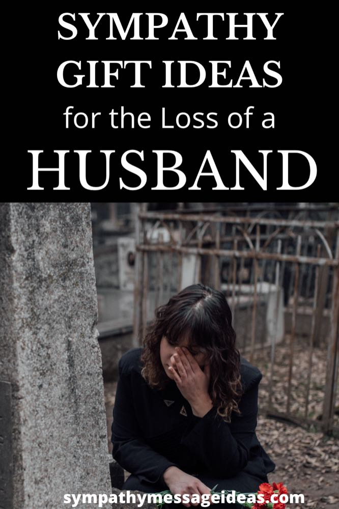 sympathy gift ideas for loss of husband