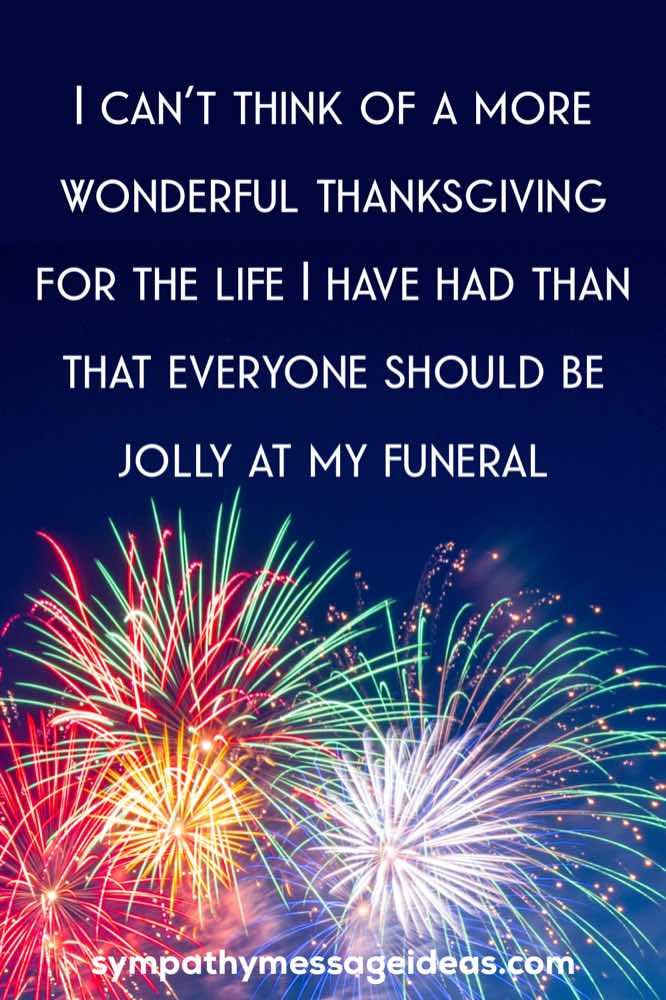 life celebration ceremony quote