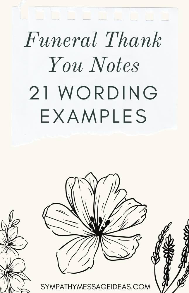 funeral thank you notes wording examples