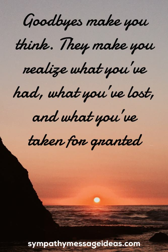 goodbye quote for a loved one