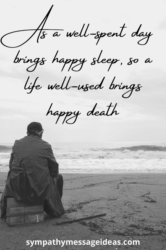 happy death celebration of life quote
