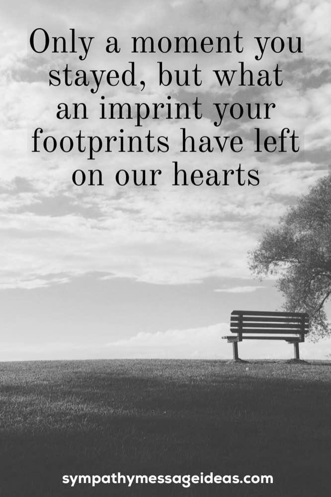 inspirational funeral message