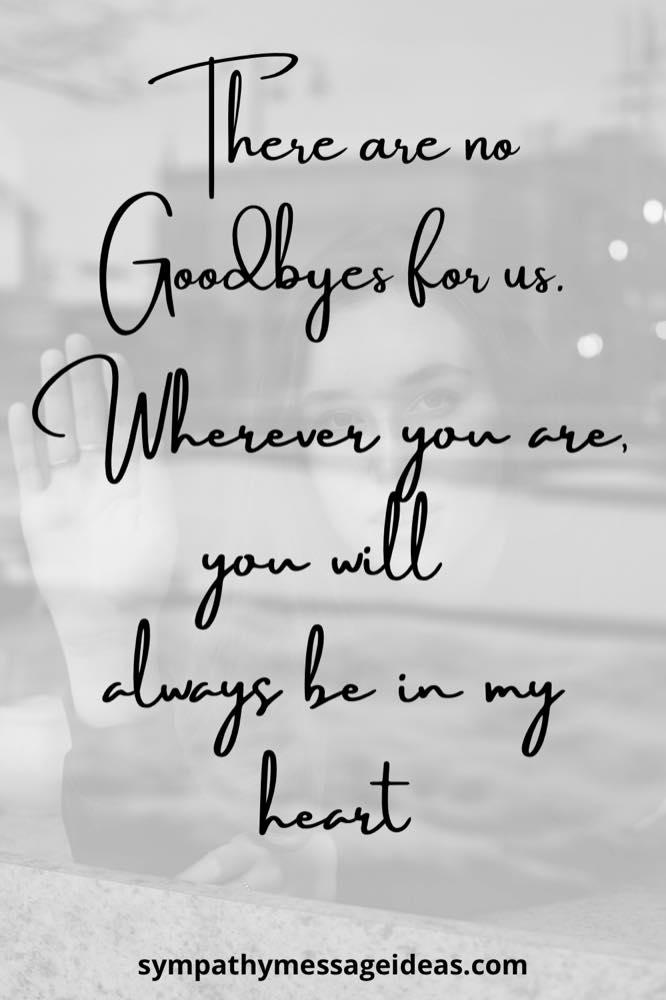 it's not goodbye saying