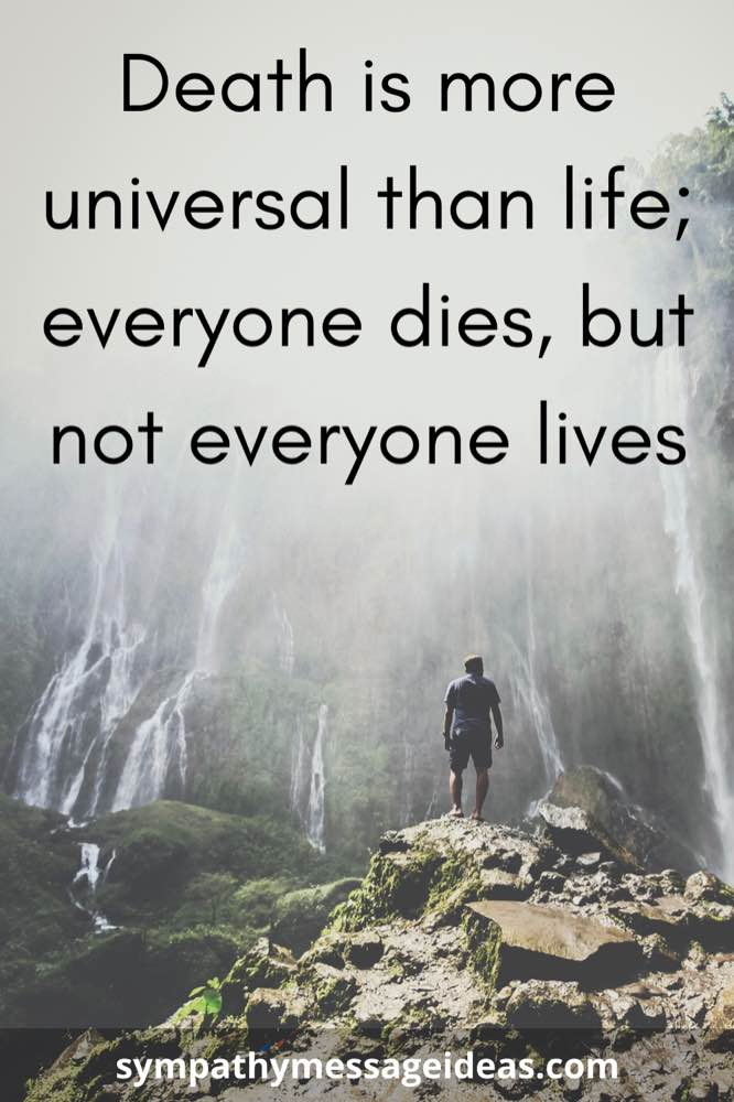 everyone dies but not everyone lives quote
