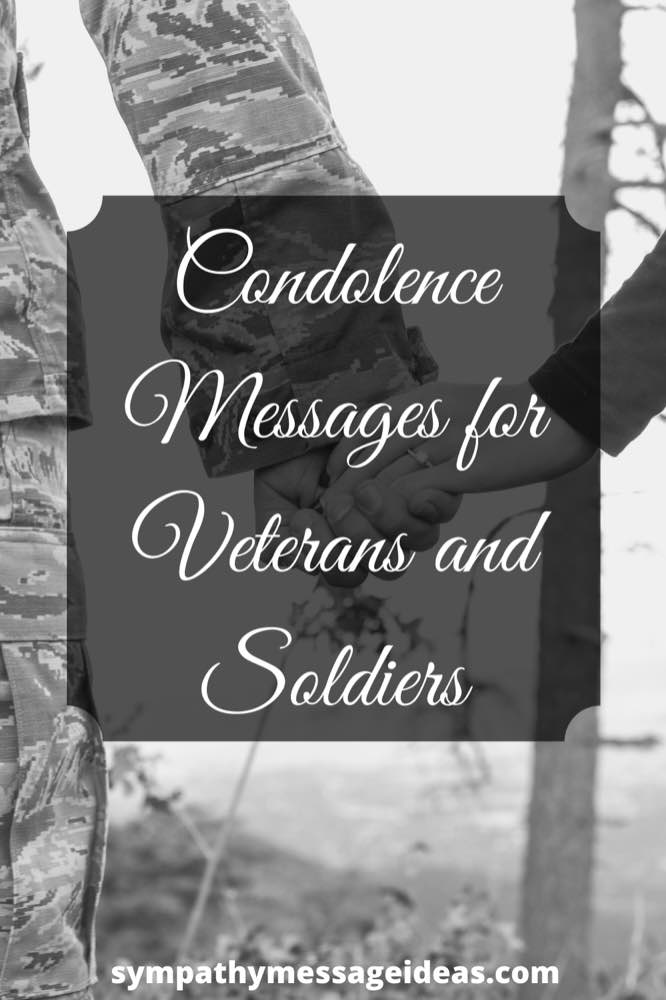condolence messages for veterans and soldiers