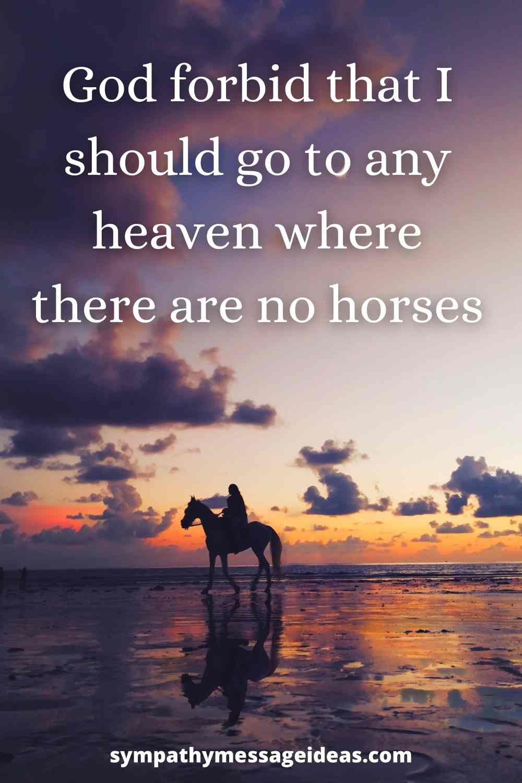 heaven where no horses are quote
