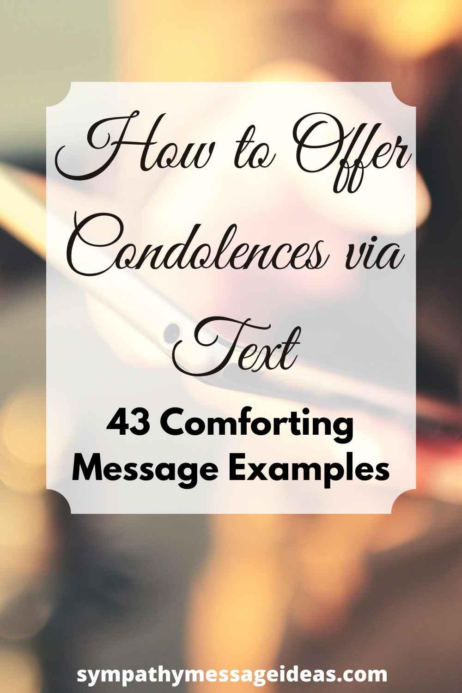 how to offer condolences via text