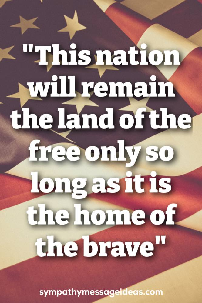 military sympathy quote