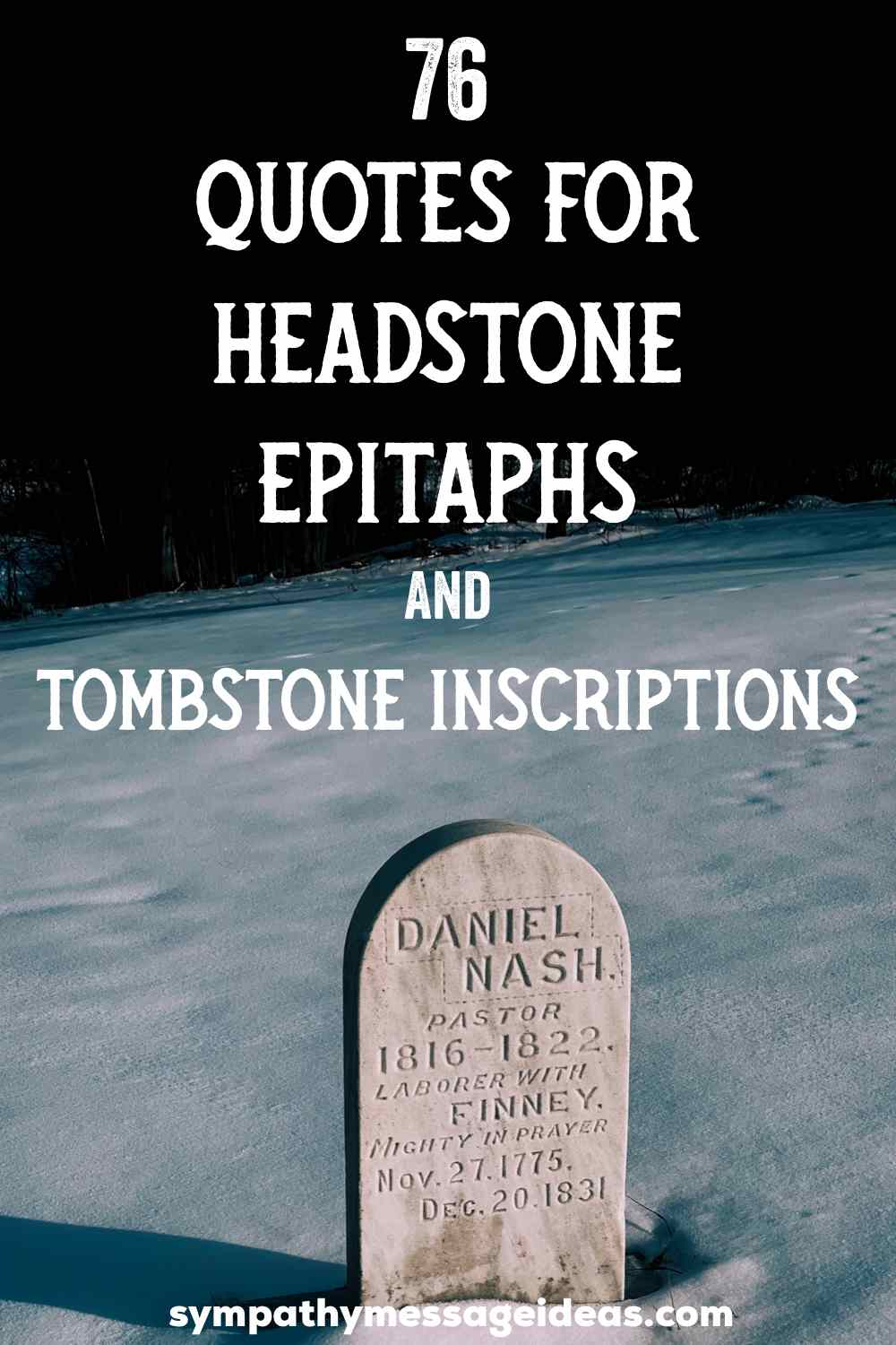 Quotes for headstone epitaphs and tombstone inscriptions