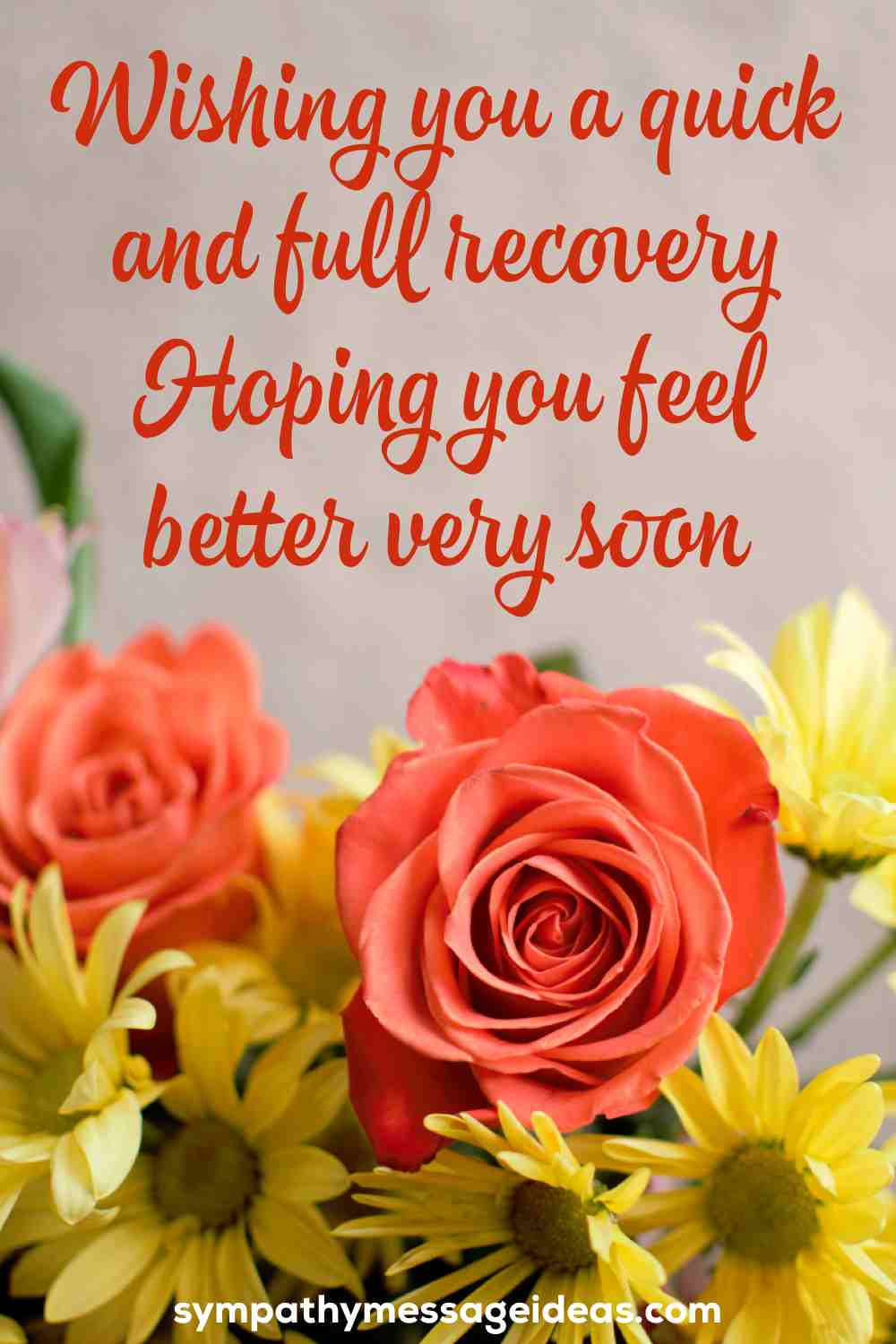 wishing you a quick and full recovery
