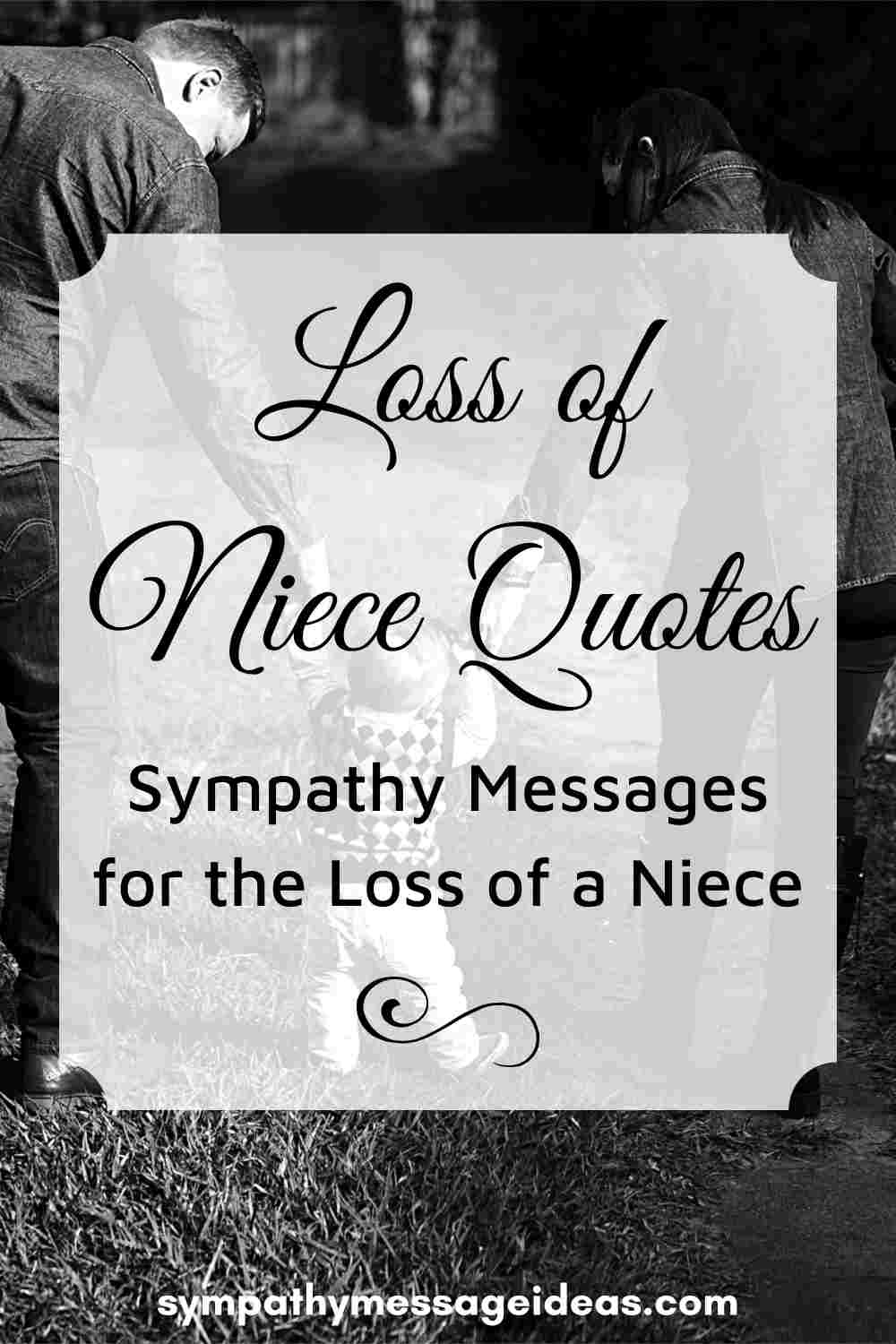 sympathy messages for loss of niece