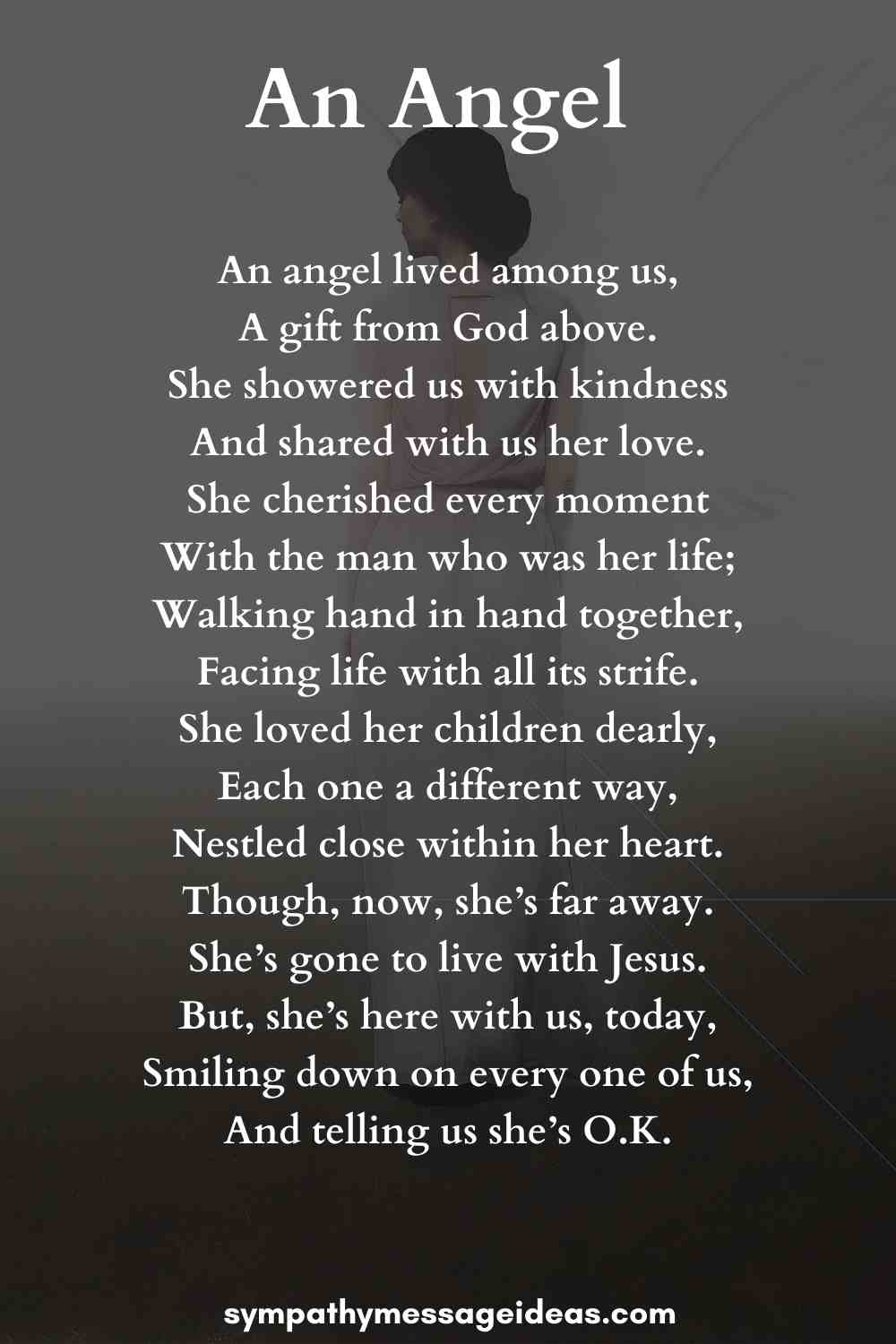 an angel funeral poem for a mom