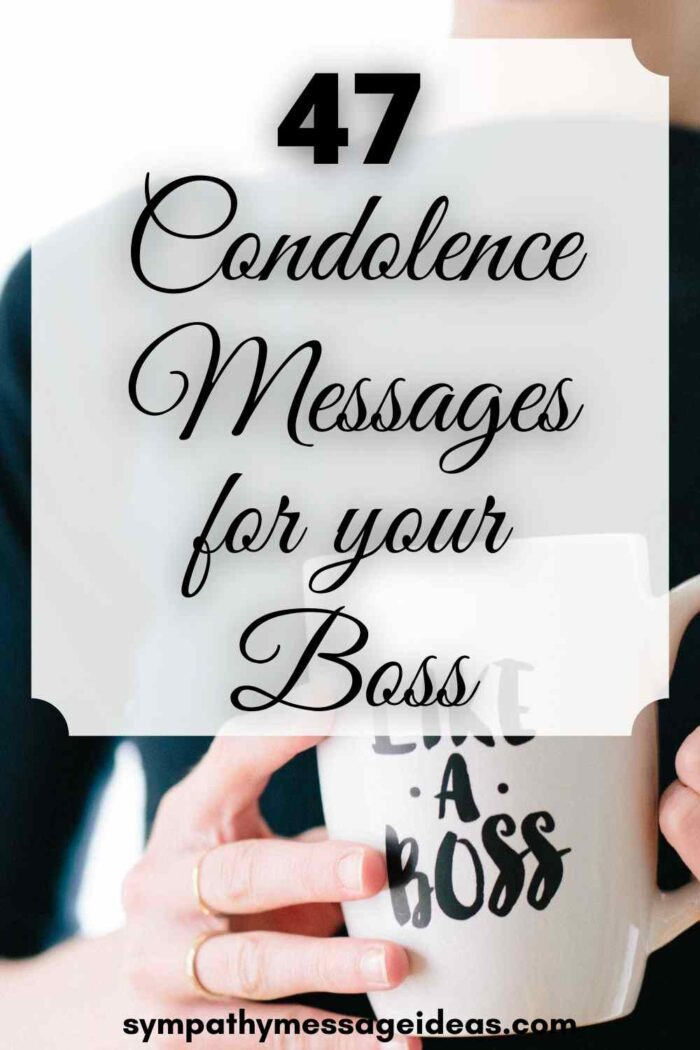condolence messages for boss