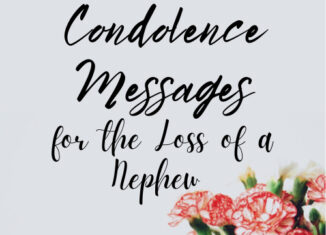 condolence messages for loss of nephew