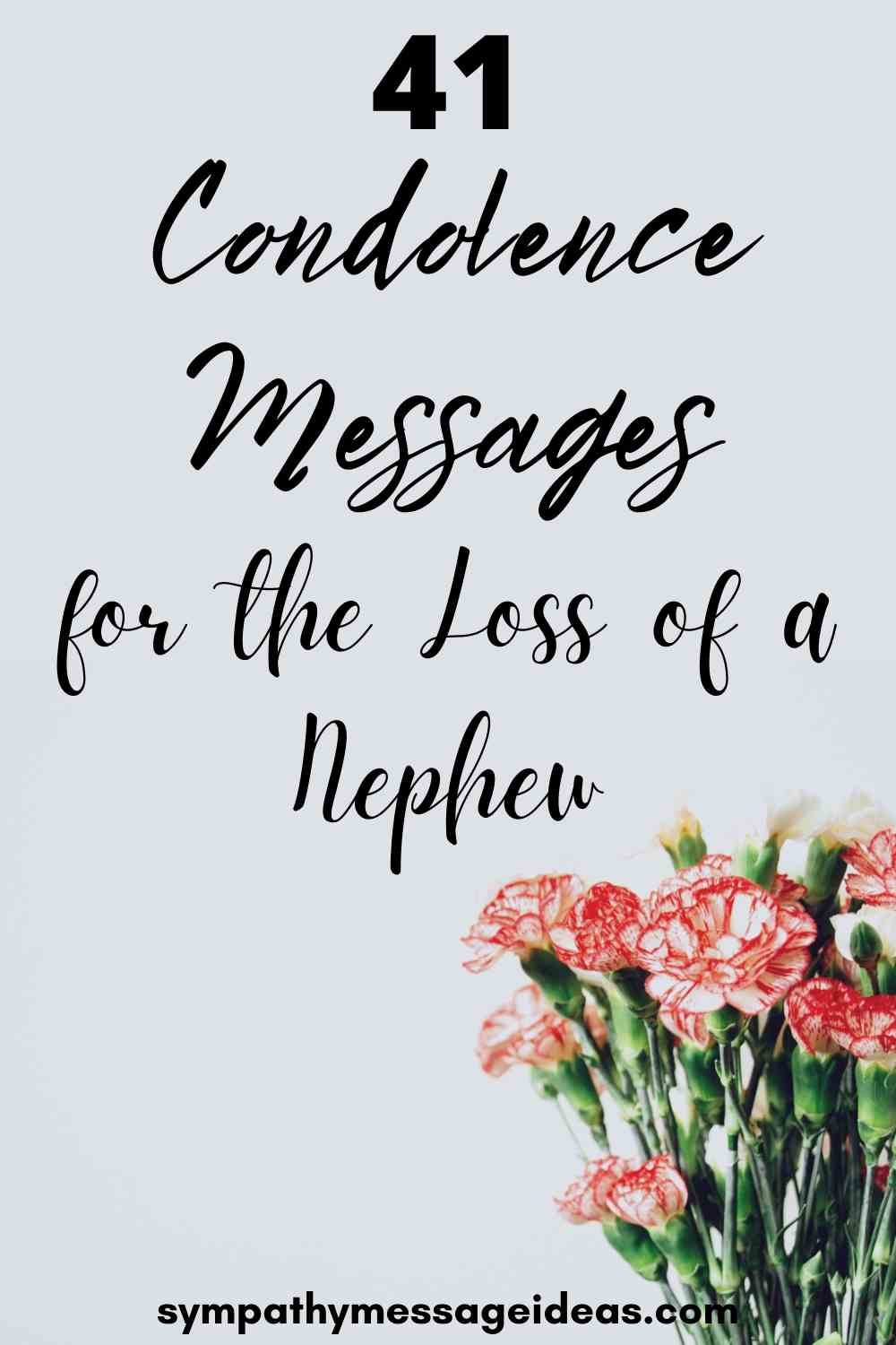 condolence messages for loss of nephew pinterest