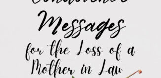 condolence messages for mother in law