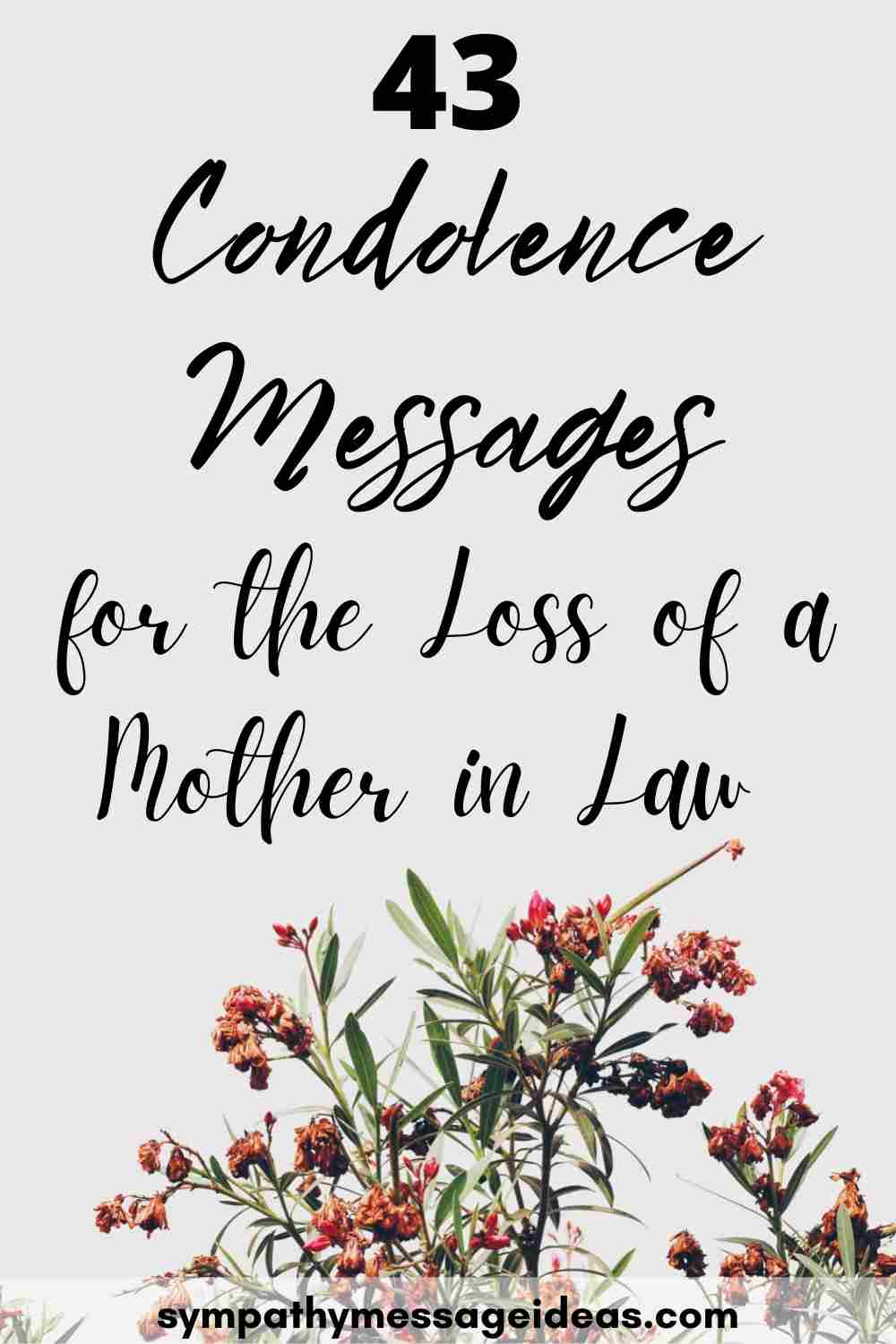 condolence messages for mother in law pinterest