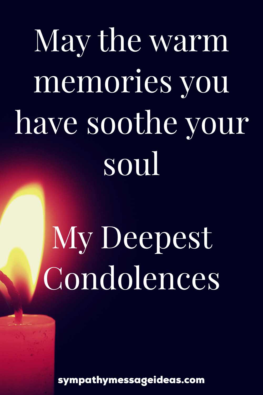 deepest condolences for boss