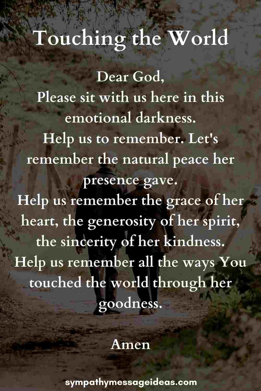 funeral prayer for grandmother