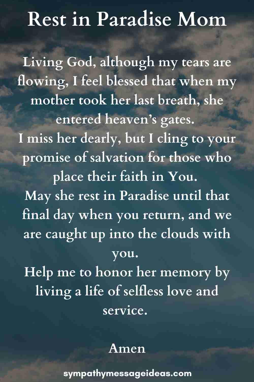 funeral prayer for mom