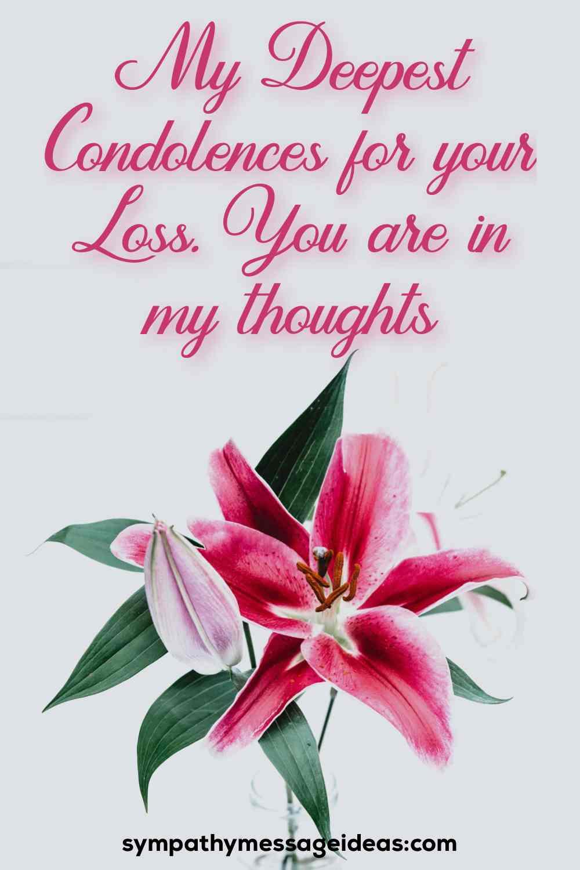 heartfelt condolence message for loss of a nephew