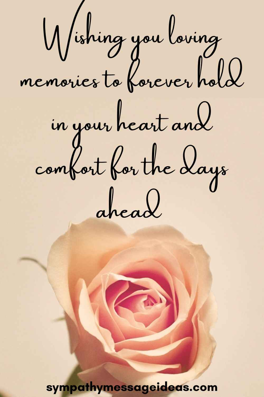 heartfelt condolence message wishes