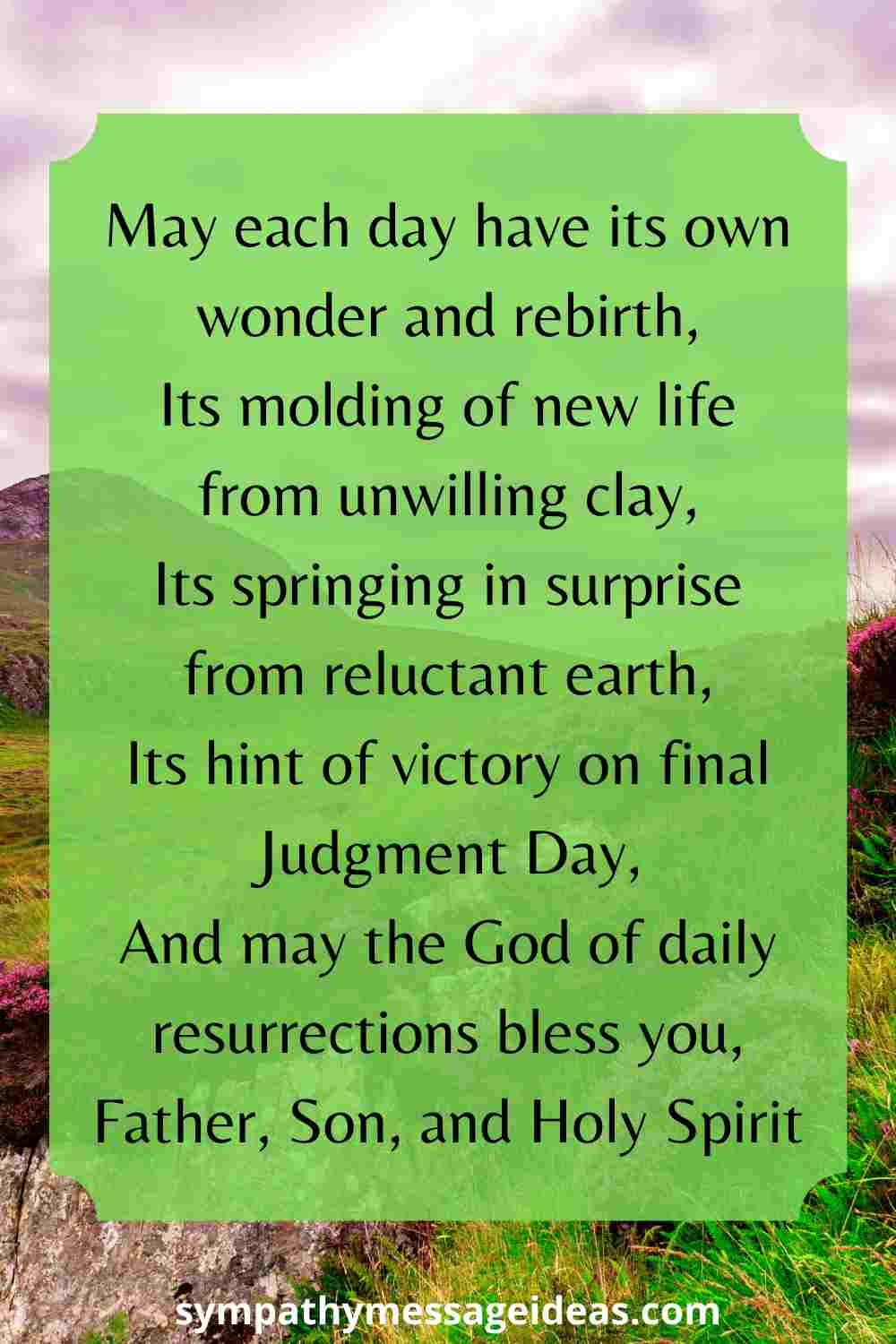 Irish blessing about life