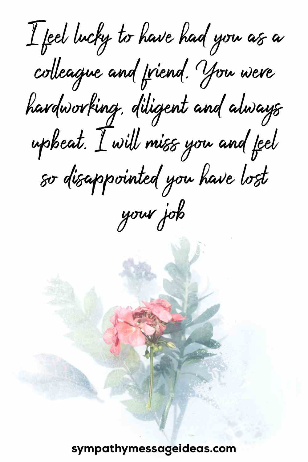 message of sympathy for job loss
