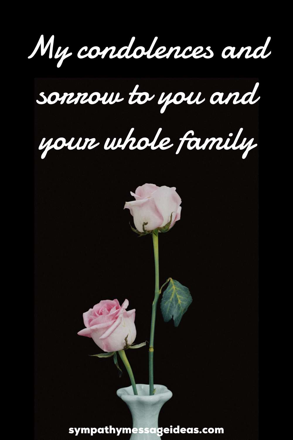 my condolences to you and your family quote