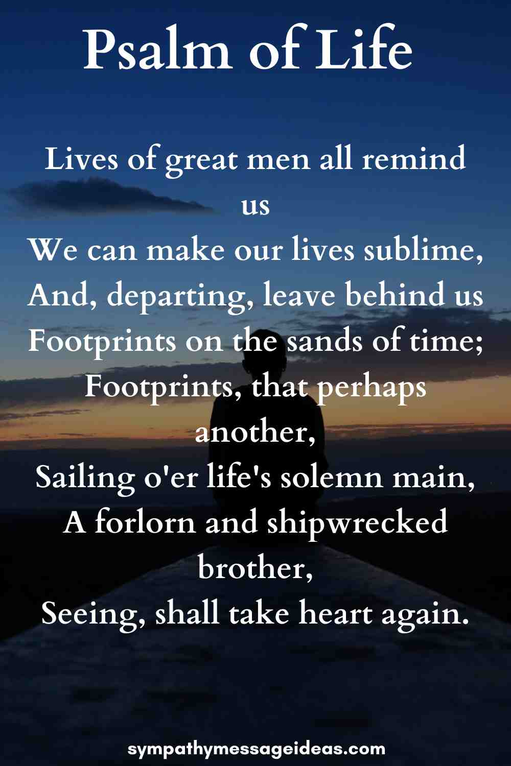 Psalm of life famous funeral poem