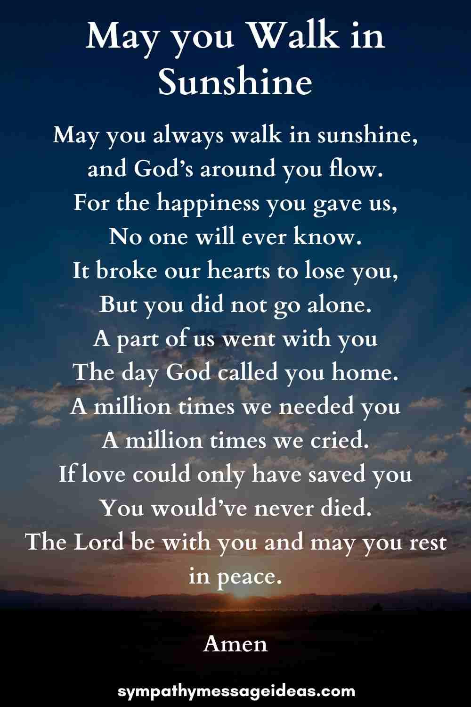 short funeral prayer