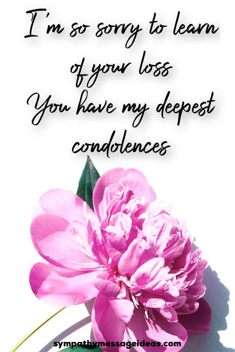 sorry for your loss condolence quote